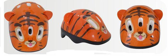 Шлем защитный Action Тигренок, цвет: оранжевый. Размер XS (48/51)PWH-4Шлем Action Тигренок послужит отличной защитой для ребенка во время катания на роликах или велосипеде. Он выполнен из плотного вспененного пенопласта, покрытого пластиковой пленкой и отлично сидит на голове, благодаря мягким вставкам на внутренней стороне. Шлем снабжен системой вентиляции и крепится при помощи удобного регулируемого ремня с пластиковым карабином, застегивающимся на подбородке. Оформлен он изображениями тигра. Характеристики: Материал: пластик, пенопласт, текстиль, поролон. Обхват шлема в лобовой части: 55 см. Размер шлема: 25 см х 19 см х 13 см. Размер упаковки: 26 см х 20 см х 13 см. Артикул: PWH-4.