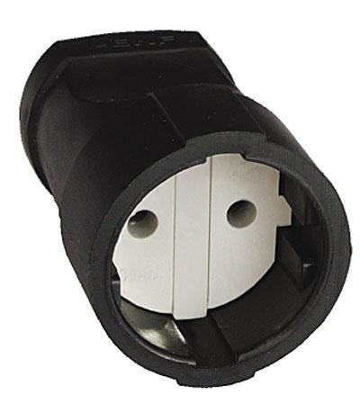 Штепсельное гнездо UNIVersal с заземлением, цвет: черный. 8331432013 7Штепсельное гнездо UNIVersal применяется для изготовления или ремонта сетевых удлинителей, позволяет быстро скоммутировать удаленный источник питания напряжением до 250 Вт, мощностью подключаемой нагрузки до 3500 Вт, 16 А. Характеристики: Материал: ABS пластик. Размеры гнезда: 7 см x 4,5 см x 4,5 см. Размер упаковки: 15,5 см x 9 см x 5 см.