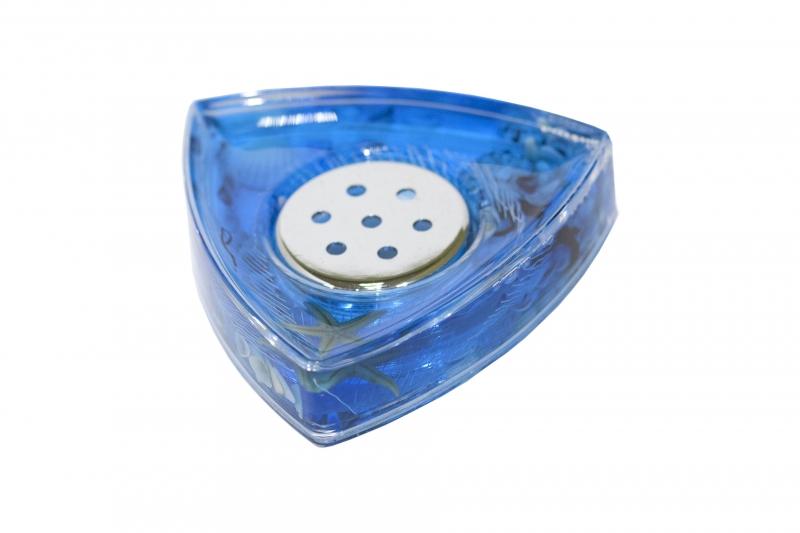 Мыльница Seastar Blue887-37Оригинальная мыльница Seastar Blue, изготовленная из прозрачного пластика, отлично подойдет для вашей ванной комнаты. Внутри мыльницы находится синий гелевый наполнитель с маленькими ракушками, морской звездой и белой сеткой. Мыльница Seastar Blue создаст особую атмосферу уюта и максимального комфорта в ванной. Характеристики: Материал: пластик, акрил, гелевый наполнитель. Цвет: синий, белый, желтый. Размер мыльницы: 11 см х 10,5 см х 2,5 см. Производитель: Швеция. Изготовитель: Китай. Размер упаковки: 11,5 см х 11,5 см х 3 см. Артикул: 887-37.