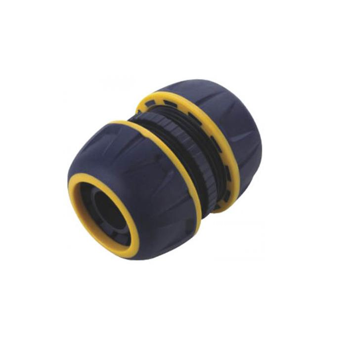 Муфта ремонтная FIT, 3/4. 7743777437Муфта ремонтная FIT применяется для ремонта поврежденного шланга. Для этого необходимо аккуратно подрезать концы шланга и соединить их муфтой. Приспособление помогает экономить средства на ремонте старого шланга вместо покупки нового. Она изготовлена из качественного материала, имеет длительный период эксплуатации. Характеристики: Материал: ABS пластик. Размер муфты: 5 см x 6 см х 5 см. Размер упаковки: 13 см х 10 см х 4,5 см.