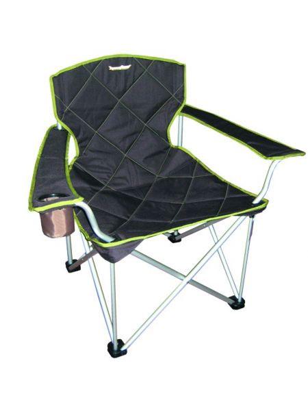Кресло складное RockLand КРА09840-20.000.00Кресло складное RockLand КРА предназначено для использования дома и на отдыхе. Изготовлено из прочного текстиля. Кресло имеет подставку для стакана. Характеристики:Материал: текстиль, металл. Максимальная нагрузка: 100 кг. Размер кресла: 62 см х 49 см х 48/92 см. Артикул: 8813921.