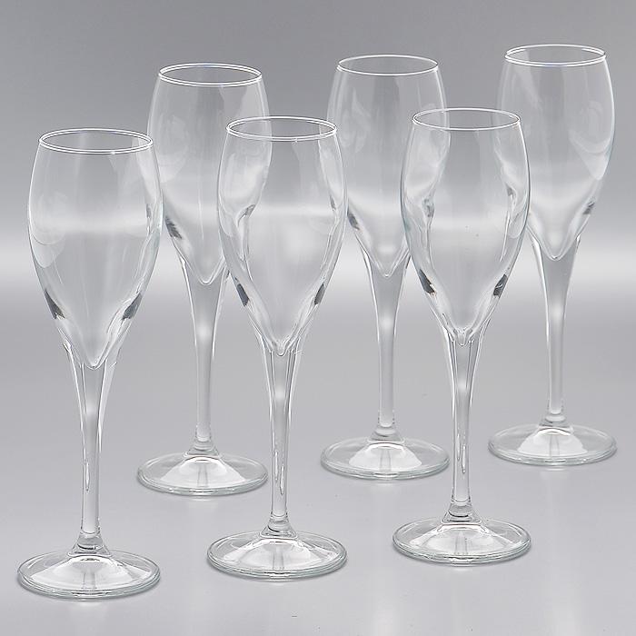 Набор фужеров Monte Carlo, 131 мл, 6 шт440086Набор Lyric, состоящий из шести фужеров на высокой ножке, изготовленых из прочного высококачественного прозрачного стекла, несомненно, придется вам по душе. Фужеры предназначены для подачи шампанского. Фужеры сочетают в себе элегантный дизайн и функциональность. Благодаря такому набору пить напитки будет еще вкуснее. Набор фужеров Lyric идеально подойдет для сервировки стола и станет отличным подарком к любому празднику. Характеристики: Материал: стекло. Диаметр фужера по верхнему краю: 4,5 см. Высота фужера: 19 см. Диаметр основания фужера: 6 см. Объем фужера: 131 мл. Комплектация: 6 шт. Размер упаковки (Д х Ш х В): 20 см х 13 см х 20 см. Производитель: Турция. Артикул: 440086.