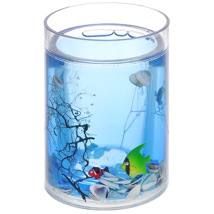 Стаканчик Морские рыбки334-01Стаканчик Морские рыбки, изготовленный из прозрачного пластика, отлично подойдет для вашей ванной комнаты. Внутри стакана голубой гелевый наполнитель с маленькими ракушками, рыбками и веточками. Стаканчик создаст особую атмосферу уюта и максимального комфорта в ванной. Характеристики: Материал: пластик, акрил, гелевый наполнитель. Цвет: голубой, белый, желтый, черный. Диаметр стаканчика по верхнему краю: 7,3 см. Высота стаканчика: 10,5 см. Производитель: Швеция. Изготовитель: Китай. Размер упаковки: 8,5 см х 8,5 см х 12,5 см. Артикул: 334-01.