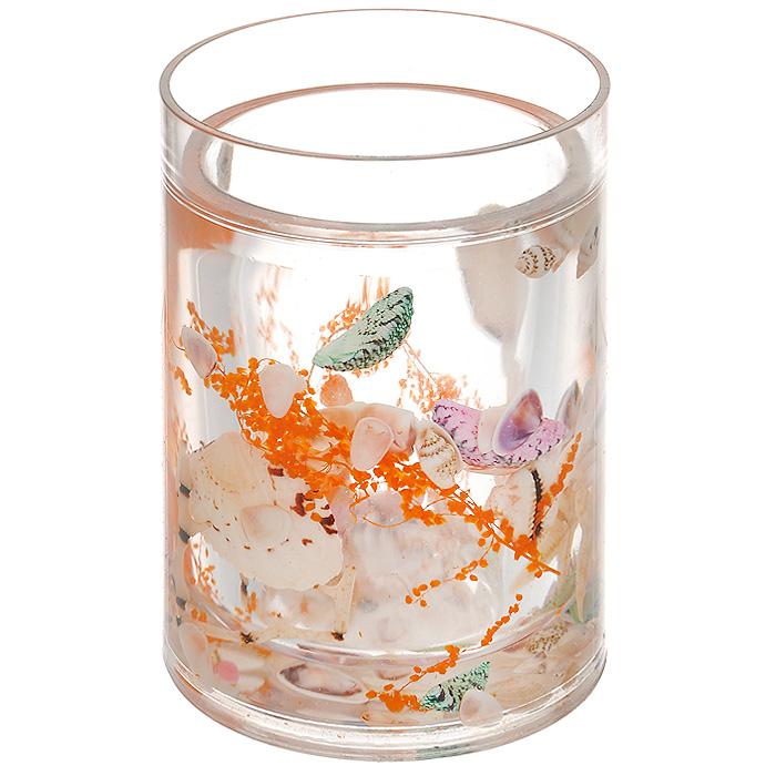 Стаканчик Морское дно339-01Стаканчик Морское дно, изготовленный из прозрачного пластика, отлично подойдет для вашей ванной комнаты. Внутри стакана прозрачный гелевый наполнитель с морскими звездами, ракушками и веточками. Стаканчик создаст особую атмосферу уюта и максимального комфорта в ванной. Характеристики: Материал: пластик, акрил, гелевый наполнитель. Цвет: белый, оранжевый, зеленый. Диаметр стаканчика по верхнему краю: 7,3 см. Высота стаканчика: 10,5 см. Производитель: Швеция. Изготовитель: Китай. Размер упаковки: 8,5 см х 8,5 см х 12,5 см. Артикул: 339-01.