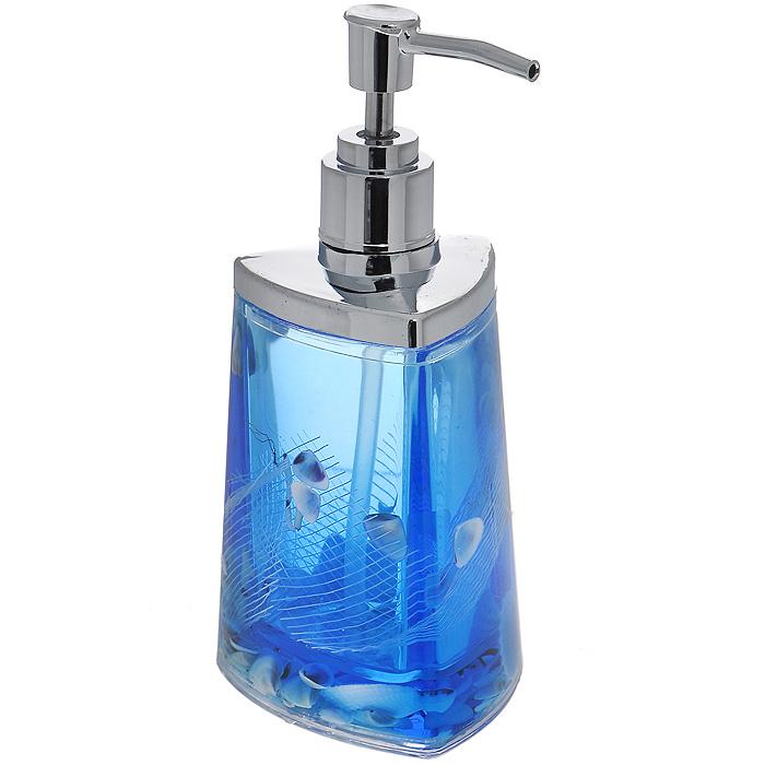 Дозатор для жидкого мыла Seastar Blue877-37Дозатор для жидкого мыла Seastar Blue, изготовленный из прозрачного пластика, отлично подойдет для вашей ванной комнаты. Дозатор имеет двойные стенки, между которыми находится синий гелевый наполнитель с маленькими ракушками, морской звездой и белой сеткой. Такой аксессуар очень удобен в использовании, достаточно лишь перелить жидкое мыло в дозатор, а когда необходимо использование мыла, легким нажатием выдавить нужное количество. Дозатор для жидкого мыла Seastar Blue создаст особую атмосферу уюта и максимального комфорта в ванной. Характеристики: Материал: пластик, акрил, гелевый наполнитель. Цвет: синий, белый, желтый. Размер дозатора: 7,5 см х 7,5 см х 17 см. Производитель: Швеция. Изготовитель: Китай. Размер упаковки: 8,5 см х 8,5 см х 17,5 см. Артикул: 877-37.