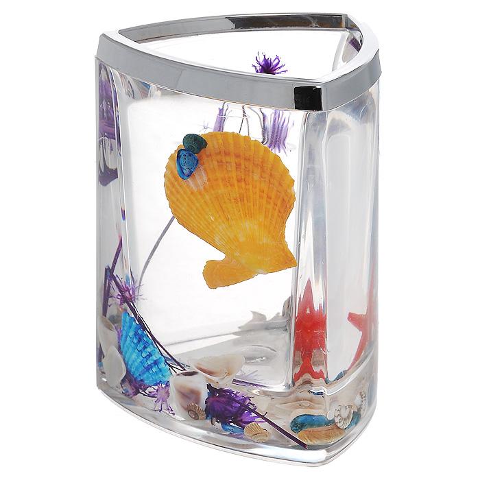 Стаканчик FantasyUP210DFСтаканчик Fantasy, изготовленный из прозрачного пластика, отлично подойдет для вашей ванной комнаты. Стаканчик имеет двойные стенки, между которыми находится прозрачный гелевый наполнитель с разноцветными ракушками, красной морской звездой и сиреневой веточкой. Стаканчик Fantasy создаст особую атмосферу уюта и максимального комфорта в ванной. Характеристики: Материал: пластик, акрил, гелевый наполнитель. Цвет: оранжевый, голубой, сиреневый, красный. Размер стаканчика: 7,5 см х 7,5 см х 11 см. Производитель: Швеция. Изготовитель: Китай. Размер упаковки: 8 см х 8 см х 11,5 см. Артикул: 857-48.