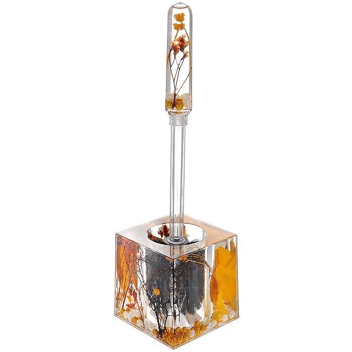 Ершик для унитаза Gold Leaf808-88Ершик для унитаза Gold Leaf выполнен из пластика с жестким ворсом. Он хранится в специальной пластиковой подставке. Внутри подставки и ершика прозрачный гелевый наполнитель с веточками, листочками и бусинами белого и золотистого цветов. Ершик отлично чистит поверхность, а грязь с него легко смывается водой. Стильный дизайн изделия притягивает взгляд и прекрасно подойдет к интерьеру туалетной комнаты. Характеристики: Материал: пластик, акрил, гелевый наполнитель. Цвет: золотистый, черный, белый. Длина ершика: 33 см. Размер подставки для ершика: 9,5 см х 9,5 см х 9,5 см. Размер упаковки: 12,5 см х 10 см х 14,5 см. Производитель: Швеция. Изготовитель: Китай. Артикул: 808-88.