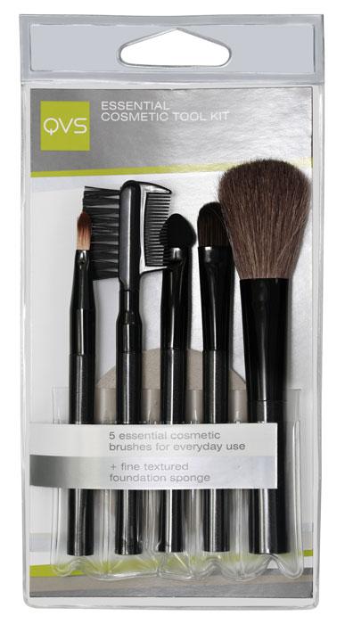 QVS Набор для макияжа: кисточки, аппликатор для макияжа глаз, расчесочка и щеточка для бровей и ресниц, спонж. 10-110310-1103Набор для макияжа QVS включает в себя все самые необходимые для каждодневного использования аксессуары: кисть для пудры для безупречного цвета лица, кисть для теней или консилера, аппликатор для теней, кисть для макияжа губ для легкого нанесения помады или блеска, щеточку-расческу для бровей и ресниц и микропористый спонж для нанесения основы макияжа. Характеристики: Материал: пластик, металл, щетина. Артикул: 10-1103. Производитель: Австралия. Товар сертифицирован.
