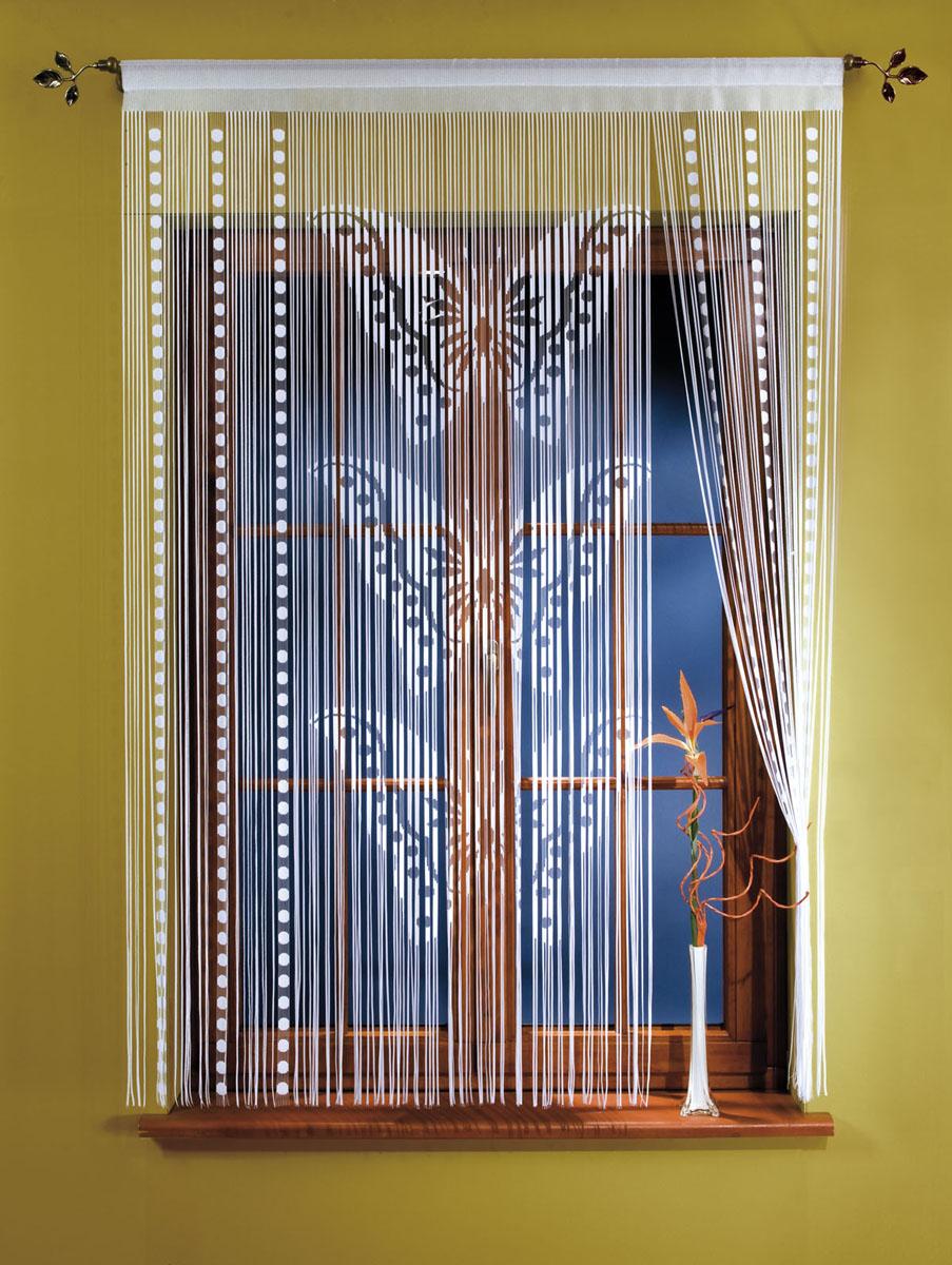 Гардина-лапша Motyle, на кулиске, цвет: белый, высота 150 см10503Гардина-лапша Motyle, изготовленная из полиэстера белого цвета, станет великолепным украшением окна, дверного проема и прекрасно послужит для разграничения пространства. Гардина оформлена мелкой бахромой и изображением бабочек. Необычный дизайн и яркое оформление привлекут внимание и органично впишутся в интерьер. Гардина-лапша оснащена кулиской для крепления на круглый карниз. Характеристики:Материал: 100% полиэстер. Цвет: белый. Высота кулиски: 5 см. Размер упаковки:26 см х 36 см х 3 см. Артикул: 667260.В комплект входит: Гардина-лапша - 1 шт. Размер (ШхВ): 150 см х 150 см. Фирма Wisan на польском рынке существует уже более пятидесяти лет и является одной из лучших польских фабрик по производству штор и тканей. Ассортимент фирмы представлен готовыми комплектами штор для гостиной, детской, кухни, а также текстилем для кухни (скатерти, салфетки, дорожки, кухонные занавески). Модельный ряд отличает оригинальный дизайн, высокое качество. Ассортимент продукции постоянно пополняется.