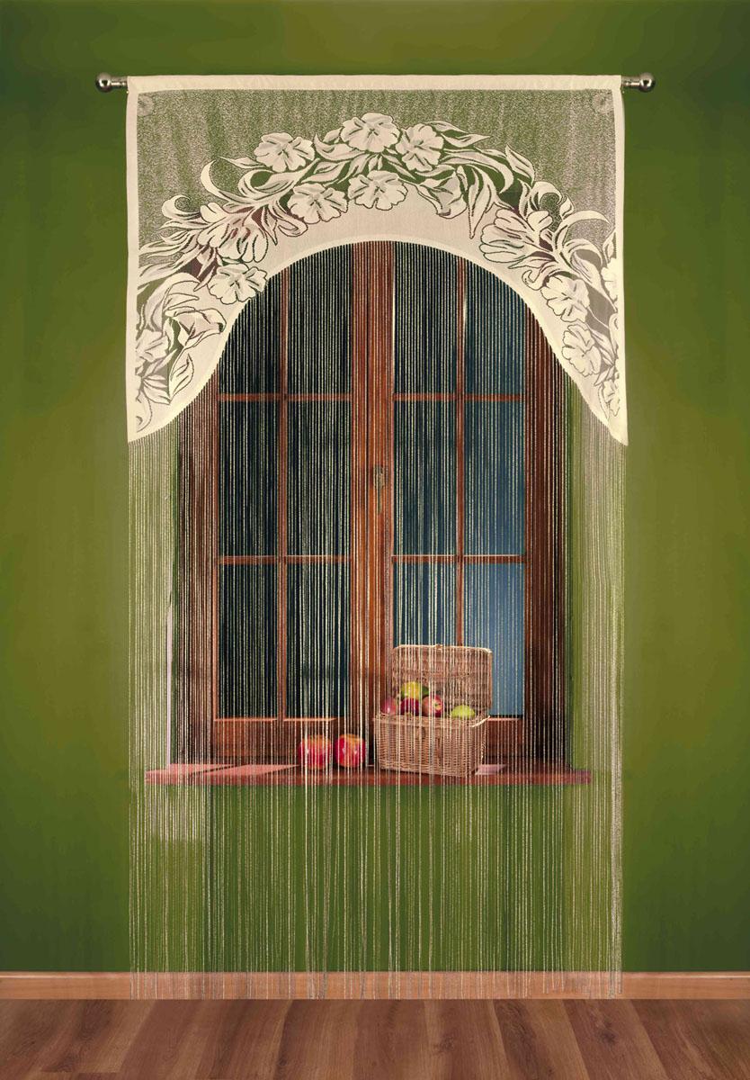 Гардина-лапша Sawa, на кулиске, цвет: бежево-черный, высота 250 см693245Воздушная гардина-лапша Sawa, изготовленная из прочного полиэстера, станет великолепным украшением любого окна. Гардина-лапша отличается от других видов гардин тем, что имеет основание, на которое крепится бахрома. Это отличное решение как для гардины на окно, так и для портьеры в дверной проем или просто занавески для разграничения пространства в комнате. Гардина-лапша оснащена кулиской для крепления на круглый карниз. Характеристики: Материал: 100% полиэстер. Цвет: бежево-черный. Высота кулиски: 5,5 см. Размер упаковки: 26 см х 2 см х 36 см. Артикул: 693245. В комплект входит: Гардина-лапша - 1 шт. Размер (ШхВ): 120 см х 250 см. Фирма Wisan на польском рынке существует уже более пятидесяти лет и является одной из лучших польских фабрик по производству штор и тканей. Ассортимент фирмы представлен готовыми комплектами штор для гостиной, детской, кухни, а также текстилем для кухни (скатерти, салфетки, дорожки, кухонные...