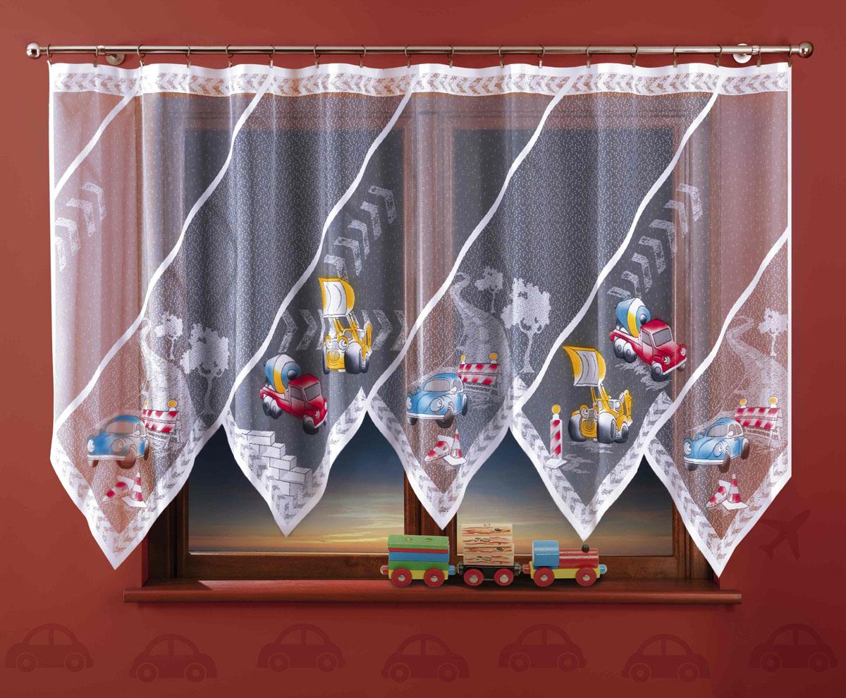 Гардина Bob, цвет: белый, высота 150 см725298Оригинальная гардина Bob, изготовленная из полиэстера белого цвета, станет украшением любого окна. Необычный дизайн и яркий принт в виде машин привлекут к себе внимание и органично впишутся в интерьер комнаты. Верхняя часть гардины не оснащена креплениями. Характеристики: Материал: 100% полиэстер. Размер упаковки: 27 см х 34 см х 3 см. Артикул: 725298. В комплект входит: Гардина - 1 шт. Размер (Ш х В): 300 см х 150 см. Фирма Wisan на польском рынке существует уже более пятидесяти лет и является одной из лучших польских фабрик по производству штор и тканей. Ассортимент фирмы представлен готовыми комплектами штор для гостиной, детской, кухни, а также текстилем для кухни (скатерти, салфетки, дорожки, кухонные занавески). Модельный ряд отличает оригинальный дизайн, высокое качество. Ассортимент продукции постоянно пополняется.
