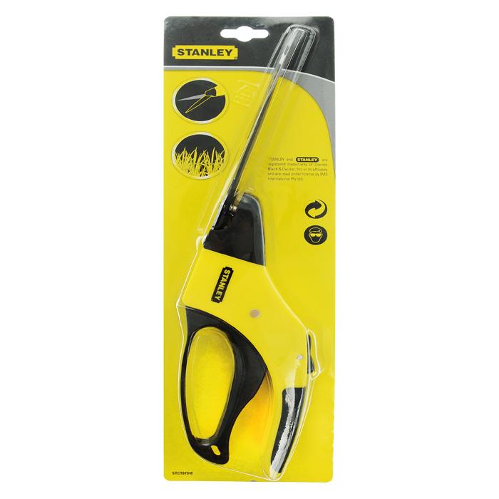 Ножницы газонные Stanley, цвет: черный, желтый, 15 см531-401Ножницы газонные Stanley предназначены для стрижки и выравнивания газона. Лезвия из карбоновой стали с покрытием, предотвращающим налипание. Также они могут поворачиваться до 360 градусов. Рукоятки выполнены из пластика, а резиновые вставки не позволят инструменту скользить в руке. Характеристики: Материал: сталь, пластик, резина. Размеры ножниц: 35 см х 8,5 см х 3,5 см. Размер упаковки: 39 см x 12 см x 4 см.