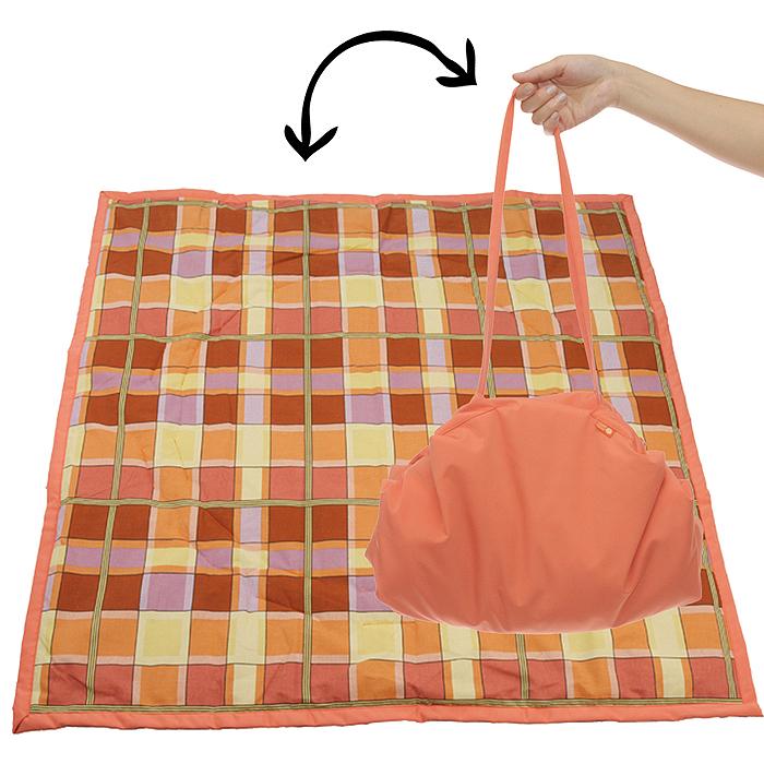 """Переносной коврик-сумка """"Чудо-Чадо"""", цвет: оранжевый, клетка KTR02-014"""