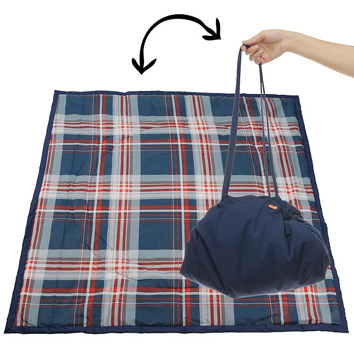 "Переносной коврик-сумка ""Чудо-Чадо"", цвет: темно-синий, клетка KTR02-015"