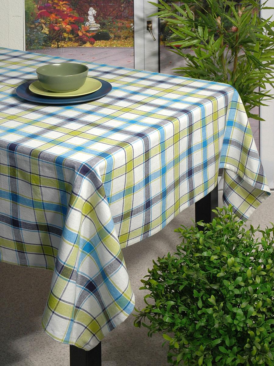 Скатерть Schaefer, прямоугольная, 110 x 140 см. 07107-41907107-419Прямоугольная скатерть Schafer выполнена из натурального хлопка и оформлена рисунком в классическую клетку в зелено-голубых тонах. Эта скатерть станет украшением вашей кухни или веранды в вашем доме. Очень позитивная расцветка добавит массу позитивных эмоций вам и вашим гостям!