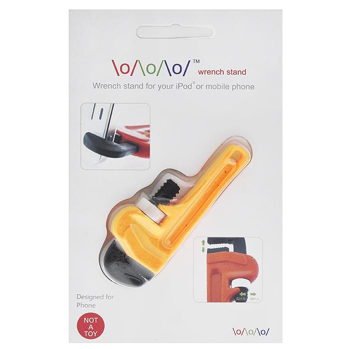 Держатель для телефона Разводной ключ, цвет: желтый4627078651772Держатель для мобильного телефона выполнен из пластика желтого цвета в виде разводного ключа. Он действует по тому же принципу, что и настоящий разводной ключ: прикрепите держатель к вашему устройству и отрегулируйте ручку. Кроме того держатель выполнен из пластика, поэтому не оставит на вашем гаджете никаких царапин. Подходит для мобильного телефона, планшета или плеера. Характеристики: Материал: пластик. Цвет: желтый. Размер держателя: 3 см х 7,5 см х 1 см. Размер упаковки: 9,5 см х 14,5 см х 1 см. Артикул: 4627078651772.