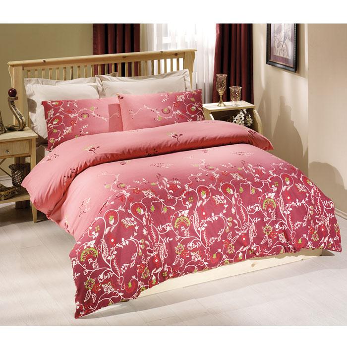 Комплект белья Tete-a-tete Летиция (2-х спальный КПБ, сатин премиум, наволочки 70х70, 50х70), цвет: розовый. Т-0040-01Т-0040-01_2-спальныйКомплект постельного белья Летиция является экологически безопасным для всей семьи, так как выполнен из натурального хлопка. Комплект состоит из пододеяльника, простыни и четырех наволочек. Постельное белье оформлено оригинальным рисунком и имеет изысканный внешний вид. Все предметы комплекта цельнокроеные. Вас поразит необыкновенная тонкость, почти воздушная легкость и невероятная шелковистость этой специальной ткани, которая еще усилится после стирки. Ненавязчивые цвета хорошо примут наложение любого другого оттенка, при любом освещении. Ваша постель будет выглядеть безупречно. Наволочки имеют клапан без пуговиц и молнии. Пододеяльник имеет молнию на нижнем конце. Молния имеет фиксаторы, не позволяющие расстегиваться ей до самого конца, а сама она очень прочная и состоит из одной эргономичной детали, что не позволит ей сломаться легко. Сатин - производится из высших сортов хлопка, а своим блеском, легкостью и на ощупь напоминает шелк. Такая ткань рассчитана на...