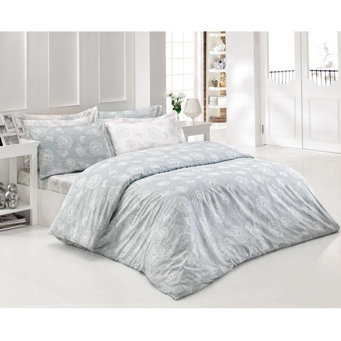 Комплект белья Tete-a-tete Верити (2-х спальный КПБ, сатин премиум, наволочки 70х70, 50х70), цвет: бледно-голубой, белый. Т-0036-01Т-0036-01_2-спальныйКомплект постельного белья Верити является экологически безопасным для всей семьи, так как выполнен из натурального хлопка. Комплект состоит из пододеяльника, простыни и четырех наволочек. Постельное белье оформлено оригинальным рисунком и имеет изысканный внешний вид. Все предметы комплекта цельнокроеные. Вас поразит необыкновенная тонкость, почти воздушная легкость и невероятная шелковистость этой специальной ткани, которая еще усилится после стирки. Ненавязчивые цвета хорошо примут наложение любого другого оттенка, при любом освещении. Ваша постель будет выглядеть безупречно. Наволочки имеют клапан без пуговиц и молнии. Пододеяльник имеет молнию на нижнем конце. Молния имеет фиксаторы, не позволяющие расстегиваться ей до самого конца, а сама она очень прочная и состоит из одной эргономичной детали, что не позволит ей сломаться легко. Сатин - производится из высших сортов хлопка, а своим блеском, легкостью и на ощупь напоминает шелк. Такая ткань рассчитана на 200...