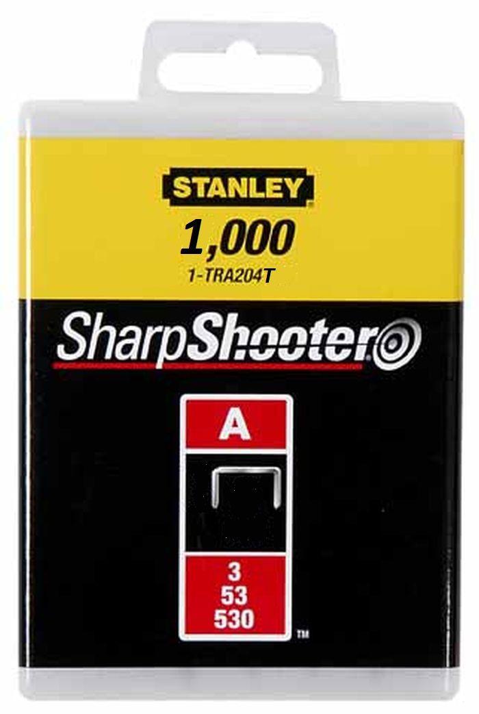"Скобы для степлера Stanley, тип ""А"" (5/53/530), 12 мм, 1000 шт 1-TRA208T"