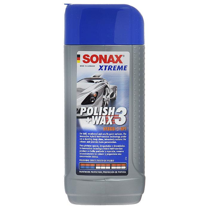Полироль Sonax Xtreme №3, для поврежденных покрытий, 250 мл202100Полироль Sonax Xtreme №3 специально для ветхих лаков, с пятикратным полировочным эффектом. Для всех видов лаков. Базируется на новой специально разработанной комбинации биологически воздействующих веществ для ветхих лаков и лакированных пластмассовых деталей. Сильнодействующие шлифовальные вещества легко снимают разрушенный слой лака. Серая пелена исчезает и остается лаковая поверхность с глубоким блеском и оптимальным освежением цвета. Высококачественный воск защищает поверхность на многие недели. Характеристики: Объем: 250 мл. Артикул: 202100. Товар сертифицирован.