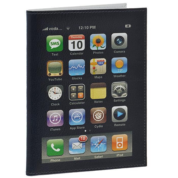 Обложка для автодокументов Perfecto iPhone. VD-PR-49SC-FD421005Стильная обложка для автодокументов выполнена из натуральной кожи в виде айфона.Внутри содержится съемный блок из шести прозрачных файлов из мягкого пластика и четыре кармашка для пластиковых карт.Обложка для автодокументов не только поможет сохранить внешний вид ваших документов и защитит их от повреждений, но и станет стильным аксессуаром, идеально подходящим вашему образу. Характеристики:Материал: натуральная кожа, пластик. Цвет: черный. Размер обложки: 9,5 см х 13,2 см. Размер упаковки: 11 см х 1 см х 14 см. Артикул: VD-PR-49.
