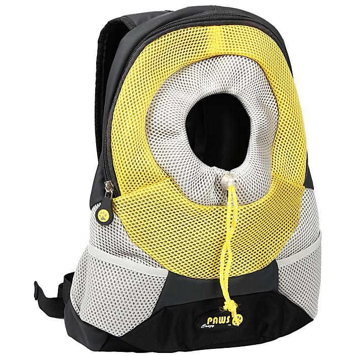 Переноска-рюкзак Crazy Paws для собак и кошек, цвет: желтый, серый. Размер LargeDPETC 022-YWПереноска-рюкзак Crazy Paws прекрасно подойдет для кошек и собак мелких пород весом до 5 кг. Она изготовлена из высокотехнологичных материалов наивысшего качества, которые безопасны для животных и их владельцев. В такой переноске нет кривых швов и торчащих ниток, так как все элементы максимально точно подогнаны друг к другу. Вашему питомцу будет комфортно. Переноска Crazy Paws серии Pet Sling - это новейшее решение для переноски мелких домашних животных. Рюкзак позволит вам освободить свои руки и снять нагрузку со спинных мышц за счет правильного распределения веса собаки на ваши плечи. При этом животное будет находиться в удобном для него положении и комфортном состоянии за счет хорошей вентиляции. Этот вид переноски абсолютно безопасен и даже полезен для вас и для вашего любимца, за счет специальной анатомической формы рюкзака у животного снимается нагрузка с позвоночника. Животное надежно зафиксировано вшитым карабином за ошейник, а также специальным регулируемым...