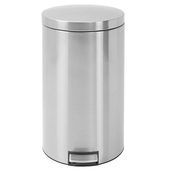 Мусорный бак Brabantia с педалью, 45 л428425Мусорный бак Brabantia выполнен из антикоррозийной полированной стали с защитой от отпечатков пальцев. Особенности мусорного бака Brabantia: механизм двойной петли из стали (при открывании вручную крышка фиксируется в открытом положении); пластиковый защитный ободок (не царапает пол); нескользящая основа; внутренняя корзина из пластика со специальными вентиляционными отверстиями для предотвращения образования вакуума при извлечении полного пакета; прочная ручка на пластиковой корзине; крышка закрывается бесшумно, плотно прилегает, предотвращая распространение запаха; лифтовый механизм плавного закрытия крышки; фирменные мусорные мешки в комплекте; гарантия от производителя 10 лет. Характеристики: Материал: сталь, пластик. Объем: 45 л. Диаметр бака: 36 см. Высота бака (с учетом крышки): 68 см. Диаметр пластиковой корзины (по верхнему краю): 34 см. ...