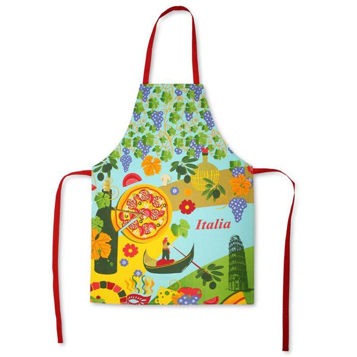 Фартук Bonita Италия, 55 х 75 см1101211566Кухонный фартук Bonita Италия выполнен из натурального хлопка и оформлен изображениями, символизирующими Италию (пицца, виноград, гондольер). Фартук поможет вам избежать попадания еды на вашу одежду во время приготовления какого-либо блюда. На нем имеются удобная лямка и завязки. Характеристики: Материал: 100% хлопок. Размер фартука: 55 см х 75 см. Артикул: 1101211566. Уют на кухне - это предмет заботы специалистов, создающих текстиль для кухни Bonita. Кухня, столовая, гостиная - то место в доме, где хочется собраться всем вместе, ощутить радость и уют. И немалая доля этого уюта зависит от подобранных под вашу мебель и, что уж говорить, под ваше настроение полотенец, скатертей, салфеток и прочих милых мелочей. Bonita предлагает коллекции готовых стилистических решений для различной кухонной мебели, множество видов рисунков и цветов. Вам легко будет создать нужную атмосферу на кухне и в столовой с товарами Bonita.