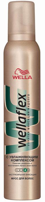 Wellaflex Пена для укладки волос С увлажняющим комплексом, экстра-сильная фиксация, 200 млБ33041_шампунь-барбарис и липа, скраб -черная смородинаПена для укладки волос Wellaflex С увлажняющим комплексом экстра-сильной фиксации делает волосы послушными и эластичными. Обеспечивает надежную упругую фиксацию прически до 24 часов. Помогает сохранить увлажненность волос, не утяжеляя их. Предотвращает статический эффект. Помогает защитить волосы от УФ-лучей. Характеристики:Объем: 200 мл. Производитель: Германия. Товар сертифицирован.
