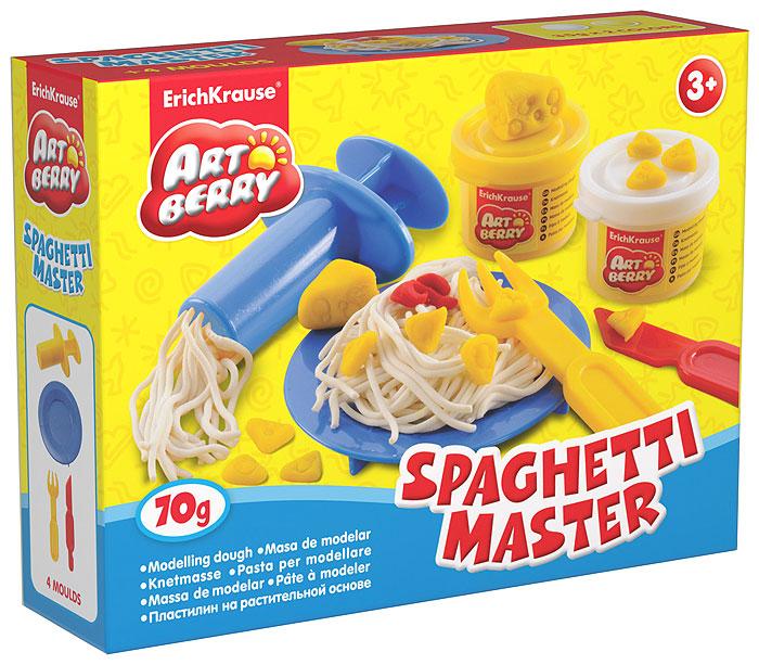 Набор для лепки (на растительной основе) Spaghetti Master, 2 цвета30366Пластилин на растительной основе Spaghetti Master - увлекательная игрушка, развивающая у ребенка мелкую моторику рук, воображение и творческое мышление. Пластилин легко разминается, не липнет к рукам и рабочей поверхности, не пачкает одежду. Цвета смешиваются между собой, образуя новые оттенки. Пластилин застывает на открытом воздухе через 24 часа. Набор содержит пластилин 2 цветов (белого и желтого), пресс для создания пластилинового спагетти, стек, пластиковые тарелочку и вилочку. Пластилин каждого цвета хранится в отдельной пластиковой баночке. С пластилином на растительной основе Spaghetti Master ваш ребенок будет часами занят игрой. Характеристики: Общий вес пластилина: 70 г. Длина пресса: 7,5 см. Длина стека: 11,5 см. Длина вилки: 10 см. Диаметр тарелки: 10 см. Размер упаковки: 16 см x 11,5 см x 4 см. Изготовитель: Россия.