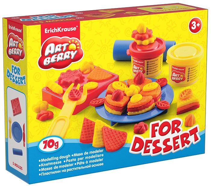 Набор для лепки (на растительной основе) For Dessert, 2 цвета30367Пластилин на растительной основе For Dessert - увлекательная игрушка, развивающая у ребенка мелкую моторику рук, воображение и творческое мышление. Пластилин легко разминается, не липнет к рукам и рабочей поверхности, не пачкает одежду. Цвета смешиваются между собой, образуя новые оттенки. Пластилин застывает на открытом воздухе через 24 часа. Набор содержит пластилин 2 цветов (красного и желтого), форму-трафарет, валик, стек, вилочку и тарелочку. Пластилин каждого цвета хранится в отдельной пластиковой баночке. С пластилином на растительной основе For Dessert ваш ребенок будет часами занят игрой. Характеристики: Общий вес пластилина: 70 г. Размер формы-трафарета: 8 см x 6,5 см x 1,5 см. Длина стека: 13,5 см. Размер валика: 9 см x 2,5 см x 2,5 см. Диаметр тарелки: 10 см. Длина вилки: 10 см. Размер упаковки: 16 см x 11,5 см x 4 см. Изготовитель: Россия.
