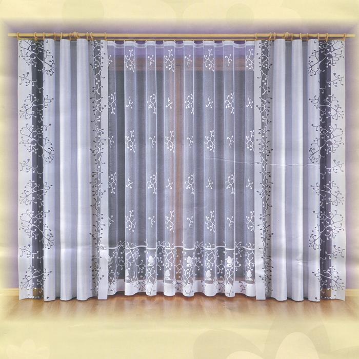 Комплект штор Malwina, на ленте, цвет: серый, белый, высота 240 см730445Комплект штор Malwina, изготовленный из полиэстера, органично впишется в интерьер любой комнаты. В набор входят две шторы и тюль белого цвета. Плотные шторы декорированы вертикальной прозрачной полосой черного цвета. Тонкое плетение и оригинальный дизайн привлекут к себе внимание и органично впишутся в интерьер комнаты. Все предметы комплекта на шторной ленте для собирания в сборки. Характеристики: Материал: 100% полиэстер. Цвет: серый, белый. Размер упаковки: 28 см х 11 см х 36 см. Артикул: 730445. В комплект входит: Штора - 2 шт. Размер (ШхВ): 140 см х 240 см. Тюль - 1 шт. Размер (ШхВ): 600 см х 240 см. Фирма Wisan на польском рынке существует уже более пятидесяти лет и является одной из лучших польских фабрик по производству штор и тканей. Ассортимент фирмы представлен готовыми комплектами штор для гостиной, детской, кухни, а также текстилем для кухни (скатерти, салфетки, дорожки, кухонные занавески). Модельный ряд отличает...