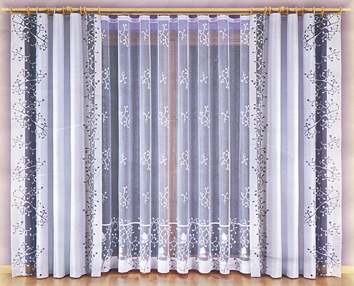 Комплект штор Malwina, на ленте, цвет: бордовый, белый, высота 240 см748419Комплект штор Malwina великолепно украсит любое окно. Комплект состоит из двух штор и тюли, оформленных изящными узорами. Шторы изготовлены из плотного полиэстера бордового цвета, тюль - из легкого полиэстера белого цвета. Оригинальный дизайн и контрастная цветовая гамма привлекут к себе внимание и органично впишутся в интерьер помещения. Все предметы комплекта оснащены шторной лентой для собирания в сборки. Характеристики: Материал: 100% полиэстер. Цвет: бордовый, белый. Размер упаковки: 32 см х 38 см х 11 см. Артикул: 748419. В комплект входит: Штора - 2 шт. Размер (ШхВ): 140 см х 240 см. Тюль - 1 шт. Размер (ШхВ): 600 см х 240 см. Фирма Wisan на польском рынке существует уже более пятидесяти лет и является одной из лучших польских фабрик по производству штор и тканей. Ассортимент фирмы представлен готовыми комплектами штор для гостиной, детской, кухни, а также текстилем для кухни (скатерти, салфетки, дорожки,...