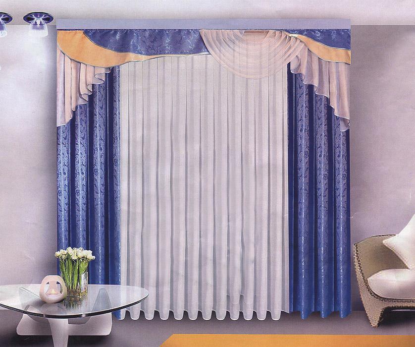 Комплект штор Zlata Korunka, на ленте, цвет: голубой, высота 250 смБ071Комплект штор Zlata Korunka, изготовленный из прочного полиэстера, станет великолепным украшением любого окна. В набор входят две шторы голубого цвета, белая вуаль и ламбрекен. Также для более изящного расположения штор на окне прилагаются подхваты. Комплект имеет изысканный внешний вид и обладает яркостью и сочностью цвета. Все предметы комплекта на шторной ленте для собирания в сборки. Жаккард - одна из дорогих тканей. Жаккардовые ткани очень прочны, долговечны и удобны в эксплуатации. Своеобразный рельефный рисунок, который получается в результате сложного плетения на плотной ткани, напоминает своего рода гобелен. Характеристики: Материал: 100 % полиэстер (жаккард, вуаль). Цвет: голубой. Размер упаковки: 31 см х 8 см х 36 см. Производитель: Польша. Изготовитель: Россия. Артикул: Б071. В комплект входит: Штора - 2 шт. Размер (ШхВ): 150 см х 250 см. Вуаль - 1 шт. Размер (ШхВ): 500 см х 250 (270) см. Ламбрекен -...