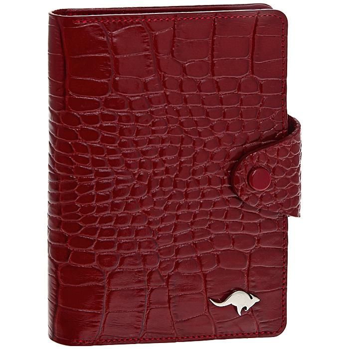 Обложка для автодокументов Cangurione, цвет: красный. 3305-006 KR/Red3305-006 KR/RedОбложка для автодокументов Cangurione выполнена из натуральной кожи красного цвета с декоративным тиснением под крокодила. На внутреннем развороте - 4 кармашка для пластиковых и кредитных карт, потайное отделение, окошко для фотографии и два кармашка для документов. Обложка закрывается при помощи хлястика на кнопку. Обложка не только поможет сохранить внешний вид ваших документов и защитит их от повреждений, но и станет стильным аксессуаром, который подчеркнет ваш неповторимый стиль. Обложка упакована в коробку из плотного картона с логотипом фирмы. Характеристики: Материал: натуральная кожа, металл. Цвет: красный. Размер обложки: 10 см х 13,5 см. Размер упаковки: 11,5 см х 15,5 см х 2 см. Артикул: 3305-006 KR/Red.
