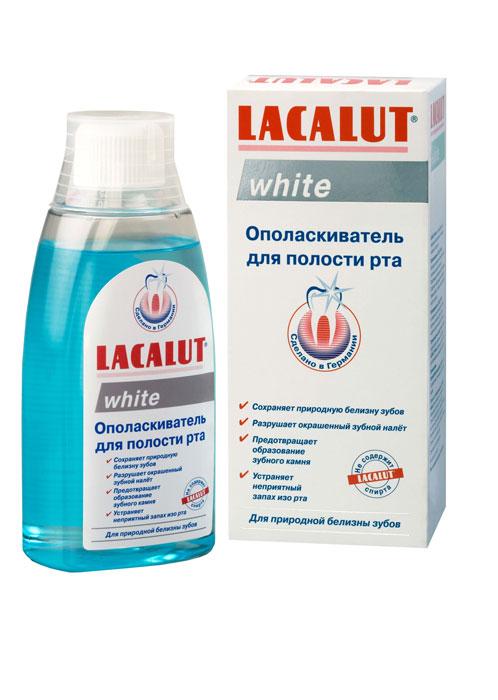 Lacalut Ополаскиватель для рта White, 300 мл15980532Ополаскиватель для рта Lacalut White готовый к употреблению ополаскиватель для поддержания природной белизны зубов. Удаляет окрашенный зубной налет, тормозит развитие зубного камня, надолго освежает полость рта. Характеристики: Объем: 300 мл. Артикул: 666092. Производитель: Германия. Товар сертифицирован.