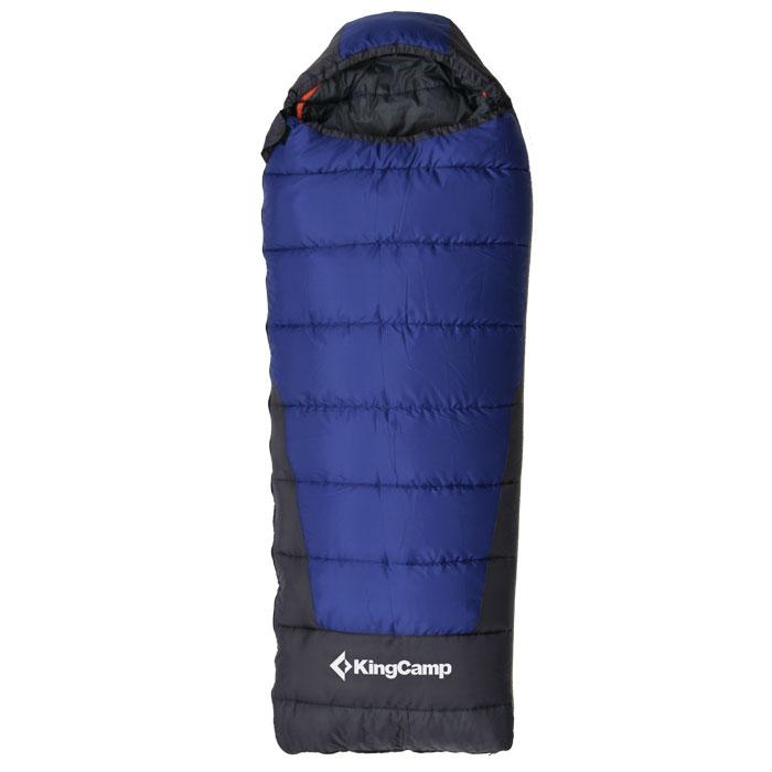 Спальный мешок KingCamp Explorer 250 KS3150, левосторонняя молния, цвет: синийATC-F-01Трехсезонный спальный мешок-одеяло KingCamp Explorer 250 с подголовником - незаменимая вещь для любителей уюта и комфорта во время активного отдыха. Теплый спальный мешок спасет вас от холода во время туристического похода, поездки на рыбалку даже в межсезонье.Верхний слой мешка-одеяла выполнен из прочного полиэстера Cell RipStop с водоотталкивающим покрытием. В качестве наполнителя использован четырехканальный холлофайбер. Спальный мешок закрывается на двустороннюю застежку-молнию. Спальный мешок упакован в удобный компрессионный чехол для переноски из нейлона.