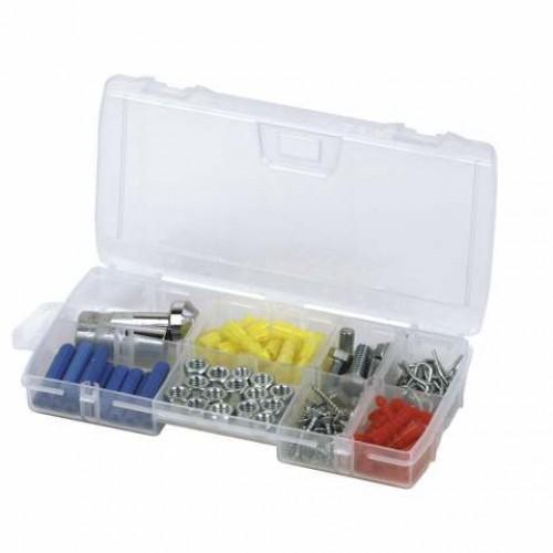 Органайзер для мелких деталей Stanley OPP Organiser, 11 секций1-92-888Органайзер Stanley OPP Organiser используется при хранении и транспортировке мелкого инструмента и оснастки. Приспособление выполнено из прозрачного пластика, который отличается высокой прочностью. Конструкция органайзера включает два запорных механизма для безопасности при хранении и переноске. Внутри ящика имеется 11 отделений - можно разложить необходимые предметы в удобном порядке. Характеристики: Материал: пластик. Размер упаковки: 21 см х 11,5 х 3,5 см.