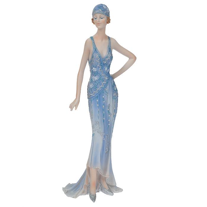 Статуэтка Леди в синем платье, высота 32 см514-1022Статуэтка Леди в синем платье, выполненная из полистоуна, станет отличным украшением интерьера вашего дома или офиса. Статуэтка выполнена в виде девушки в изящном синем платье, украшенном блестками. Вы можете поставить статуэтку в любом месте, где она будет удачно смотреться, и радовать глаз. Также она может стать оригинальным подарком для всех любителей стильных вещей. Характеристики: Материал: полистоун. Размер статуэтки (Ш х Д х В): 12 см х 8 см х 32 см. Размер упаковки: 11 см х 13 см х 35 см. Артикул: 514-1022.