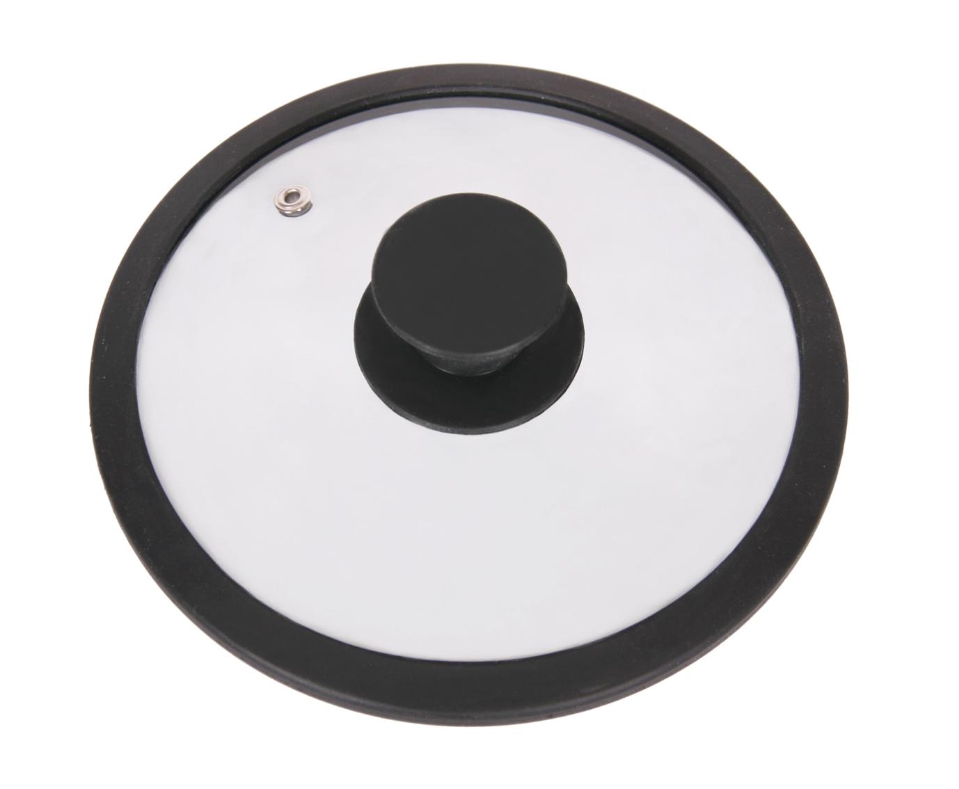 Крышка стеклянная Winner, цвет: черный. Диаметр 16 смWR-8300Крышка Winner изготовлена из термостойкого стекла с ободом из силикона. Крышка оснащена отверстием для выпуска пара. Ручка, выполненная из термостойкого бакелита с силиконовым покрытием, защищает ваши руки от высоких температур. Крышка удобна в использовании и позволяет контролировать процесс приготовления пищи. Характеристики: Материал: стекло, силикон, бакелит. Диаметр: 16 см. Изготовитель: Германия. Производитель: Китай. Размер упаковки: 16,6 см х 16,6 см х 4 см. Артикул: WR-8300.