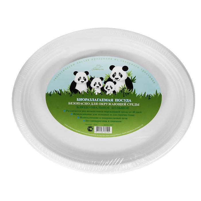 Набор овальных био-блюд Greenmaster, цвет: белый, 32 см х 26 см, 10 штББ31Набор Greenmaster состоит из 10 овальных био-блюд. Биоразлагаемая посуда, полученная из сахарного тростника, является экологически чистой и абсолютно безопасной для окружающей среды. Разлагается под воздействием окружающей среды от 40 дней. Используется для холодных и для горячих блюд. Можно использовать в микроволновой печи. Без канцерогенов и токсинов. Материал: сахарный тростник 100%. Размер блюда: 32 см х 2,5 см х 26 см. Комплектация: 10 штук.