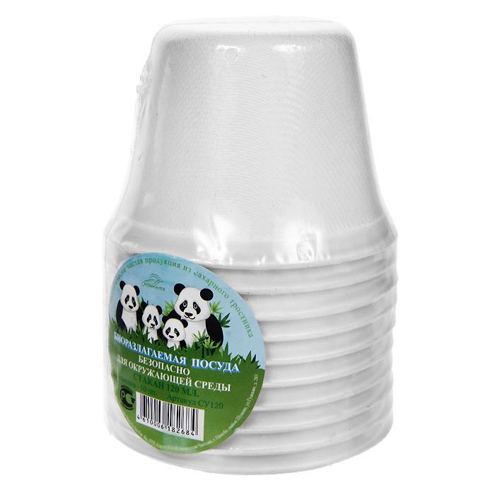 Набор био-стаканов Greenmaster, цвет: белый, 120 мл, 10 штСУ120Набор Greenmaster состоит из 10 био-стаканов. Биоразлагаемая посуда, полученная из сахарного тростника, является экологически чистой и абсолютно безопасной для окружающей среды. Разлагается под воздействием окружающей среды от 40 дней. Используется для холодных и для горячих блюд. Можно использовать в микроволновой печи. Без канцерогенов и токсинов. Материал: сахарный тростник 100%. Объем стаканов: 120 мл. Размер стакана: 7,7 см х 7,7 см х 5,6 см. Комплектация: 10 штук.