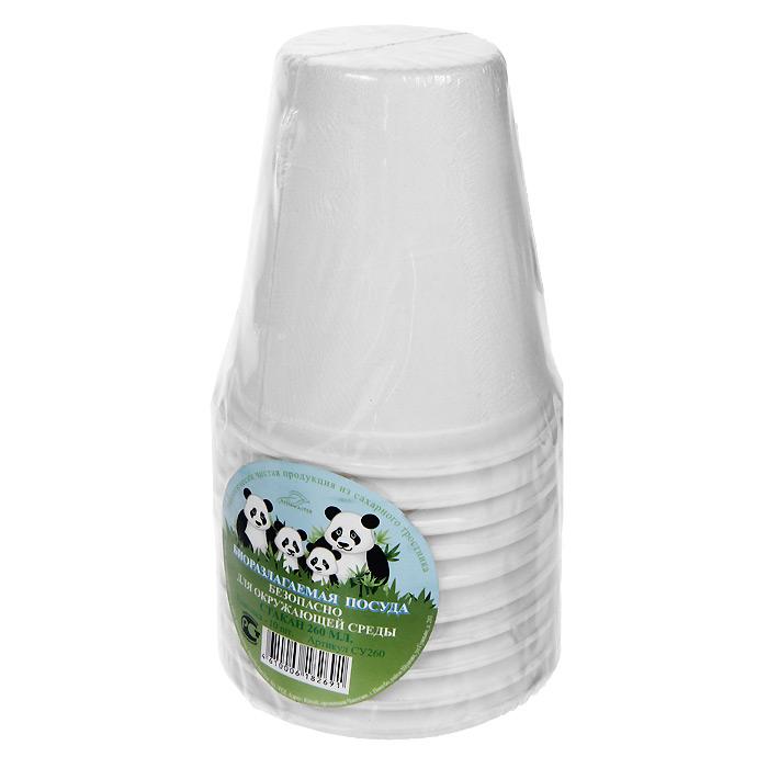 Набор био-стаканов Greenmaster, цвет: белый, 260 мл, 10 штСУ260Набор Greenmaster состоит из 10 био-стаканов. Биоразлагаемая посуда, полученная из сахарного тростника, является экологически чистой и абсолютно безопасной для окружающей среды. Разлагается под воздействием окружающей среды от 40 дней. Используется для холодных и для горячих блюд. Можно использовать в микроволновой печи. Без канцерогенов и токсинов. Материал: сахарный тростник 100%. Объем стаканов: 260 мл. Размер стакана: 8 см х 9 см х 8 см. Комплектация: 10 штук.