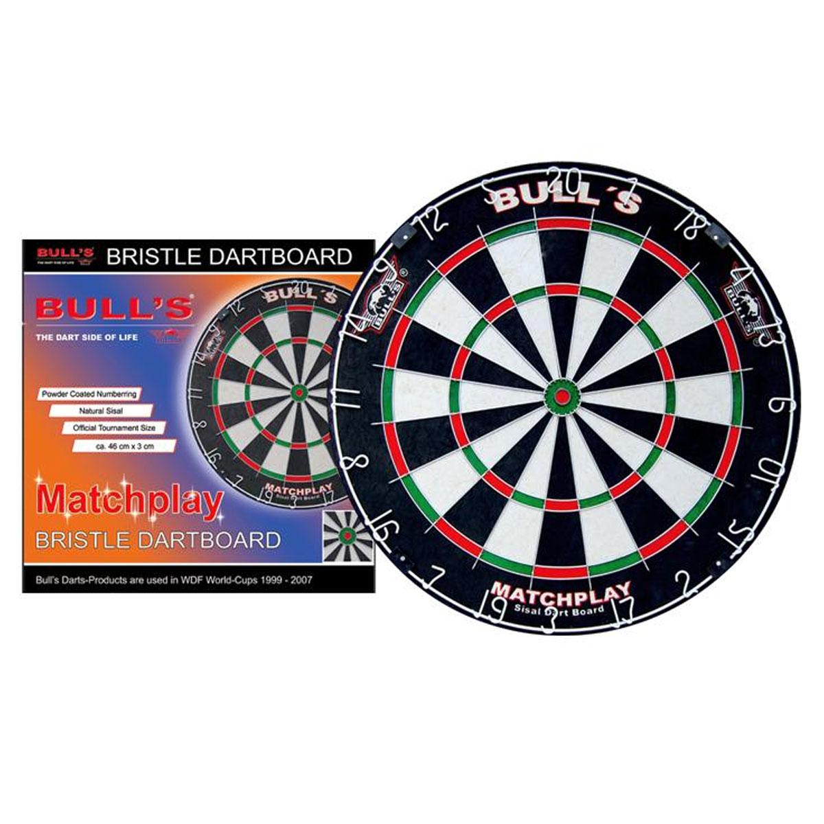 Мишень для дартс Bulls Matchplay Bristle Board, 46 см х 3 см68230Мишень для дартс Bulls Matchplay Bristle Board изготовлена из высококачественного сизаля. Классическая конструкция мишени с круглой стальной проволокой. Предназначена для игры в классический дартс. Возврат товара возможен только при наличии заключения сервисного центра. Время работы сервисного центра: Пн-чт: 10.00-18.00 Пт: 10.00- 17.00 Сб, Вс: выходные дни Адрес: ООО ГАТО, 121471, г.Москва, ул. Петра Алексеева, д 12., тел. (495)232-4670, gato@gato.ru Характеристики: Материал: сизаль, металл, дерево. Диаметр мишени: 46 см. Толщина мишени: 3 см. Размер упаковки: 47 см х 47 см х 4 см.