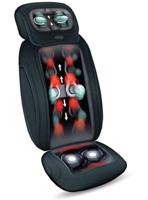 Gezatone Массажная накидка 3D Pad, цвет: черный1301119Массажная накидка 3D Pad - это уникальный массажный прибор, который не уступает по функциональности массажным креслам, но при этом обладает непревзойденной компактностью. Глубокий роликовый массаж спины избавит вас от усталости и спазма мышц, снимет напряженность и устранит неприятные ощущения. Дополнительная функция ИК-прогрева - это прекрасная релаксация и улучшение работы мышц, избавление от дискомфорта. Массаж шеи интенсивно, но деликатно прорабатывает натруженные мышцы, восстанавливая их тонус, снимая привычный спазм, предотвращая появление остеохондроза. Если вы работаете за компьютером, водите автомобиль, проводите много времени сидя, то накидка 3D Pad - это незаменимый прибор для вас, чтобы постоянно оставаться в форме и отлично себя чувствовать. Эффекты от применения массажной накидки 3D Pad: Снятие усталости и стресса, Улучшение самочувствия, Устранения привычного спазма мышц шеи и спины, Улучшение кровоснабжения,...