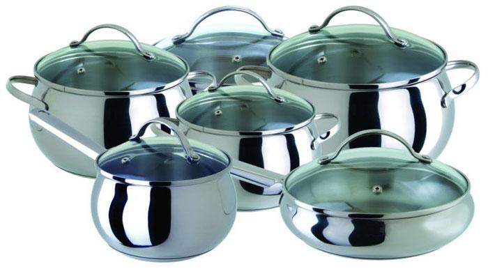 """Regent Inox Набор посуды """"Apple"""", 12 предметов. 93-B-12"""