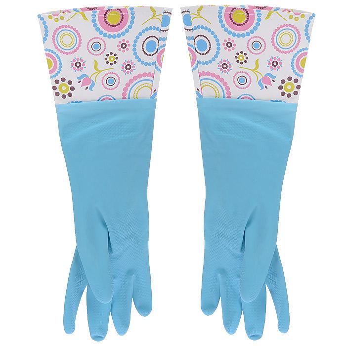 Феникс-Презент Перчатки латексные, с манжетой из ПВХ и внутренним хлопковым напылением. Размер М. 29494