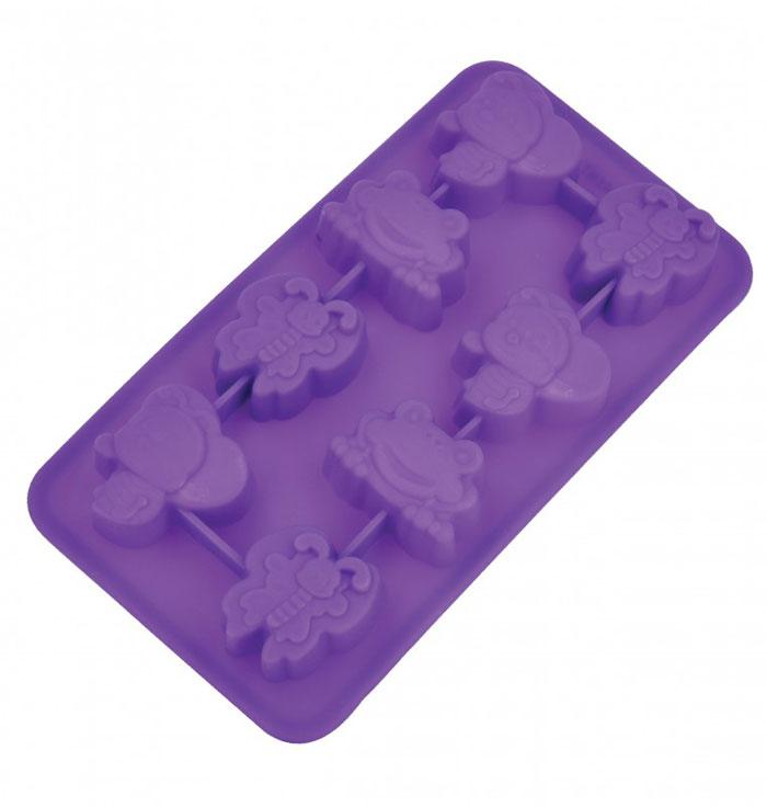Форма для льда и десерта Фауна, 8 ячеек93-SI-FO-16.11Форма для льда и десерта Фауна выполнена из силикона и предназначена для изготовления конфет, мармелада, желе, льда, выпечки и т.д. Оригинальный способ подачи изделий не оставит равнодушными родных и друзей. Силиконовые формы выдерживают высокие и низкие температуры (от -40°С до +230°С). Они эластичны, износостойки, легко моются, не горят и не тлеют, не впитывают запахи, не оставляют пятен. Силикон абсолютно безвреден для здоровья. Не используйте моющие средства, содержащие абразивы. Можно мыть в посудомоечной машине. Характеристики: Материал: силикон. Размер формы: 19,5 см х 10,5 см х 2,5 см. Цвет: фиолетовый. Артикул: 93-SI-FO-16.11.