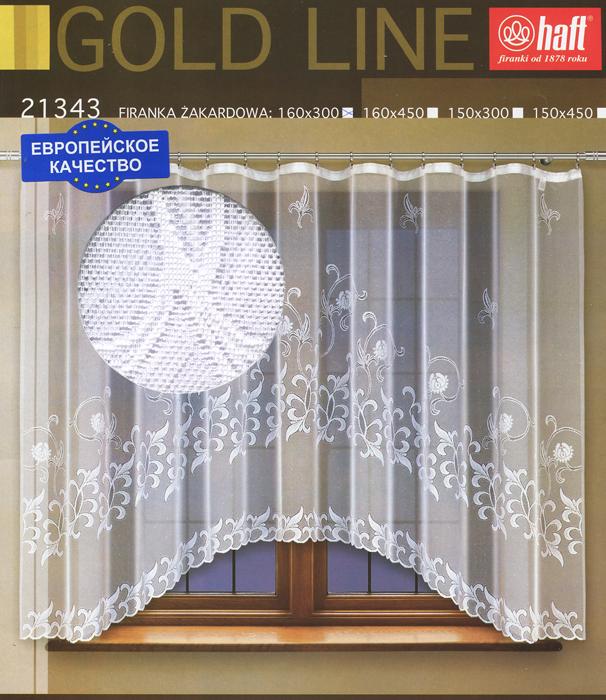 Гардина Haft, на ленте, цвет: белый, высота 160 см. 636885636885Воздушная гардина Haft, изготовленная из полиэстера белого цвета, станет великолепным украшением любого окна. Нежный орнамент привлечет к себе внимание и органично впишется в интерьер комнаты. В гардину вшита шторная лента. Характеристики: Материал: 100% полиэстер. Размер упаковки: 37 см х 28 см х 3 см. Цвет: белый. Артикул: 636885. В комплект входит: Гардина - 1 шт. Размер (Ш х В): 300 см х 160 см. Текстильная компания Haft имеет богатую историю. Основанная в 1878 году в Польше, эта фирма зарекомендовала себя в качестве одного из лидеров текстильной промышленности в Европе. Еще в начале XX века фабрика Haft производила 90% всех текстильных изделий в своей стране, с годами производство расширялось, накопленный опыт позволял наиболее выгодно использовать развивающиеся технологии. Главный ассортимент компании - это тюль и занавески. Haft предлагает готовые решения для ваших окон, выпуская готовые наборы штор, которые...