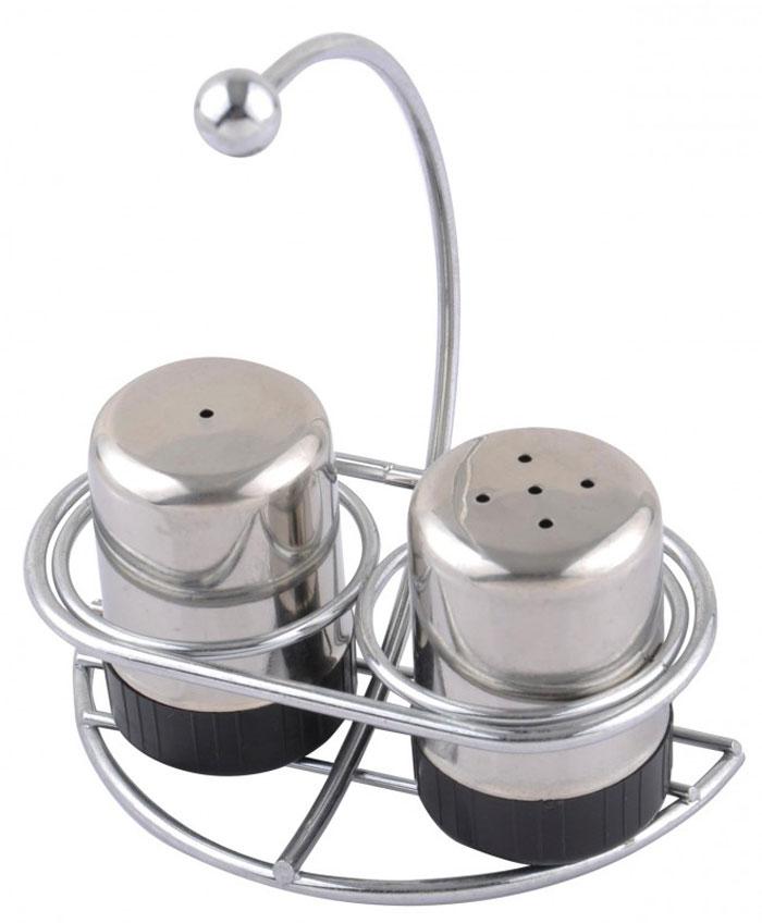 Набор для специй Aroma: солонка и перечница. 93-DE-AR-1793-DE-AR-17Набор Linea Aroma состоит из солонки и перечницы на подставке. Предметы набора изготовлены из металла и пластика. Солонка и перечница легки в использовании: стоит только перевернуть емкости, и вы с легкостью сможете поперчить или добавить соль по вкусу в любое блюдо. Можно мыть в посудомоечной машине. Надежная точечная спайка металлических частей обеспечивает прочность и долговечность изделий. Оригинальный дизайн, эстетичность и функциональность набора позволят ему стать достойным дополнением к кухонному инвентарю. Характеристики: Материал: пластик, металл. Высота емкости: 5 см. Диаметр основания: 3 см. Размер подставки: 10,5 см х 7 см х 14 см Размер упаковки: 14 см х 11 см х 7 см. Артикул: 93-DE-AR-17.